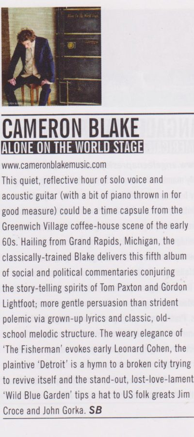Cameron Blake - Acoustic clipping (review)